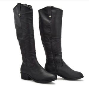 9664d7e94de Sociology Shoes - Sociology Masie Riding Boots - Black - Size  10